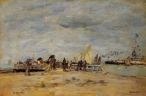 Eugène Boudin - Deauville the Jetty 1888-1895