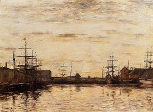 Eugène Boudin - Fecamp the Basin 1883