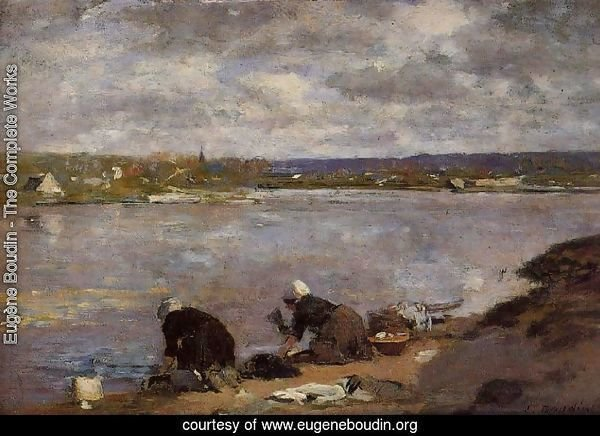 Laundresses on the Banks of the Touques2 1880-1885