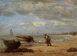 Eugène Boudin - Low Tide near Honfleur 1854-1857