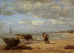 Eugène Boudin - On the Beach 1867