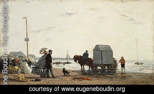 On the Beach at Trouville 1863