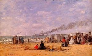 The Beach at Trouville 1868