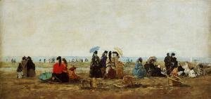 Eugène Boudin - The Beach at Trouville 1871
