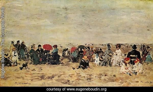 The Beach at Trouville 1880