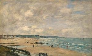 Eugène Boudin - The Beach at Trouville 1893