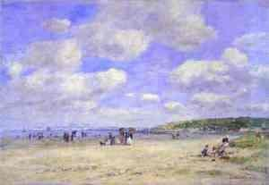 Eugène Boudin - The Beach at Trouville les Sablons