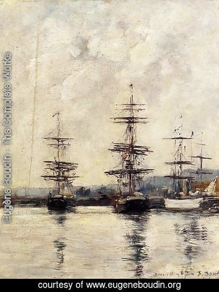 Eugène Boudin - The Port at Saint-Vaast-la-Houghe 1892
