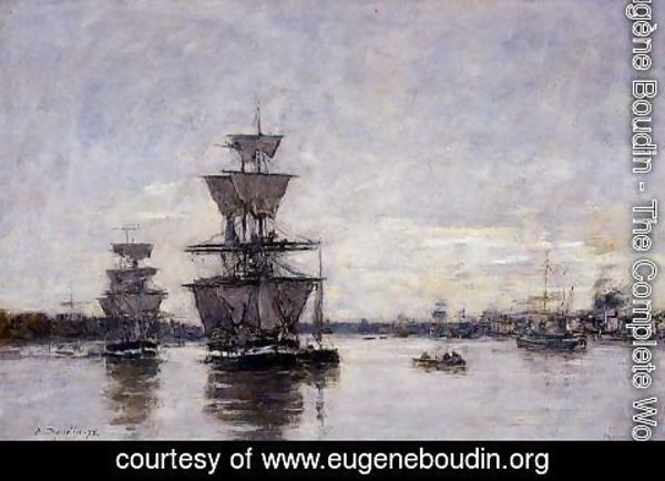 Eugène Boudin - The Port Deauville 1887