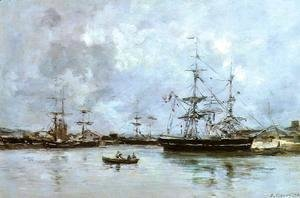 Eugène Boudin - The Port of Bordeaux 1875