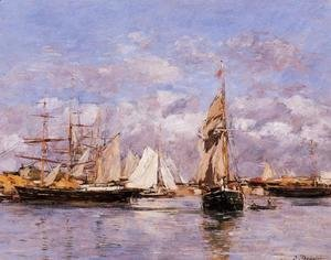 Eugène Boudin - The Port of Le Havre at Sunset 1882