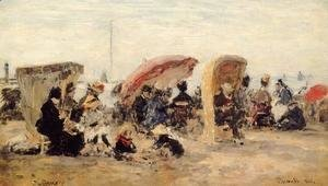 Trouville Beach Scene 1886