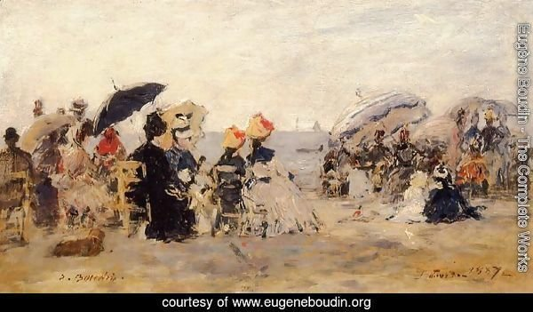 Trouville Beach Scene 1887