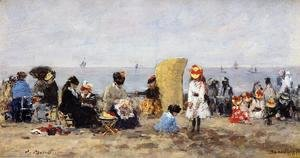Trouville Beach Scene2 1881