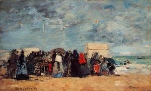 Trouville Beach Scene3 1873