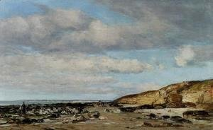 Trouville greve at rochers 1860-1865