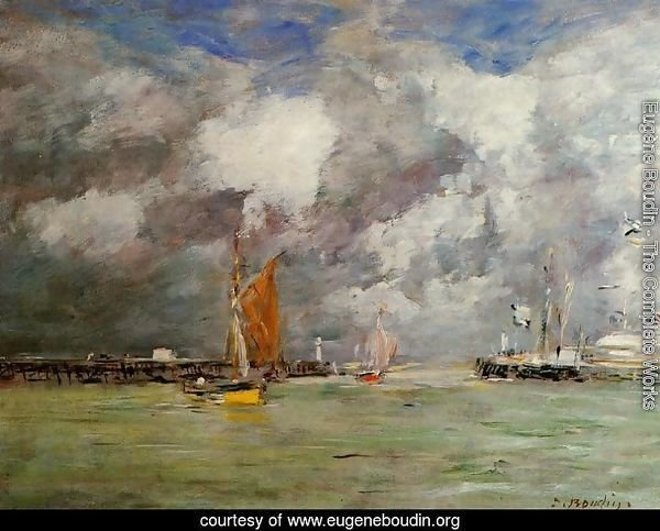 Trouville the Jettys at Low Tide2 1883-1887