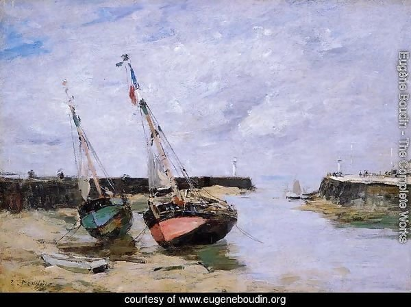 Trouville the Jettys Low Tide 1885-1890