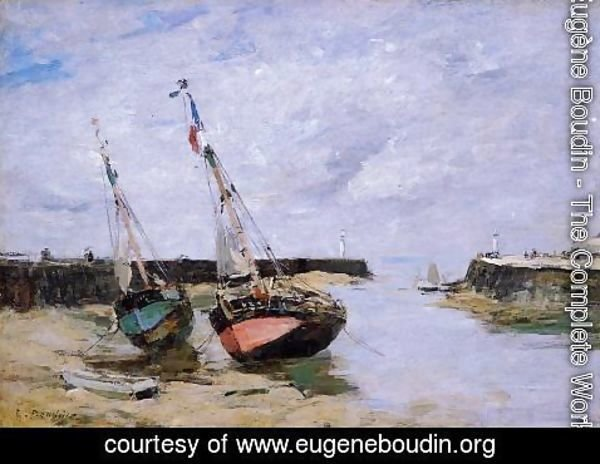 Eugène Boudin - Trouville the Jettys Low Tide 1885-1890