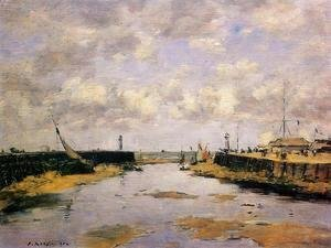 Trouville the Jettys Low Tide 1890