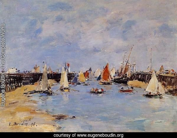 Trouville the Jettys Low Tide1 1896