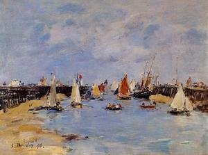 Eugène Boudin - Trouville the Jettys Low Tide1 1896