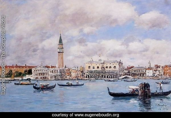 Venice the Cam[panile the Ducal Palace and the Piazetta 1895