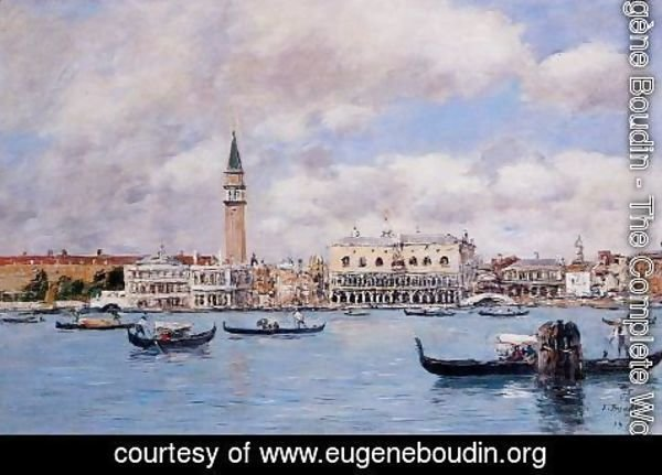 Eugène Boudin - Venice the Cam[panile the Ducal Palace and the Piazetta 1895