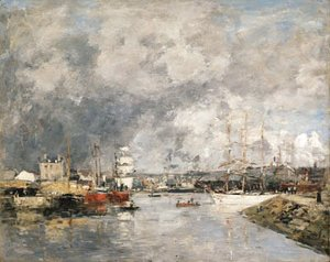 Eugène Boudin - Dieppe, Le port (The Port of Dieppe)