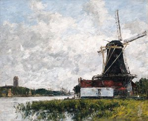 Dordrecht, moulin sur les bords de la Meuse (Dordrecht, Mill on the Banks of the Meuse)