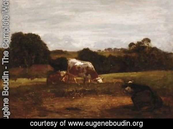 Eugène Boudin - Paturage Normand