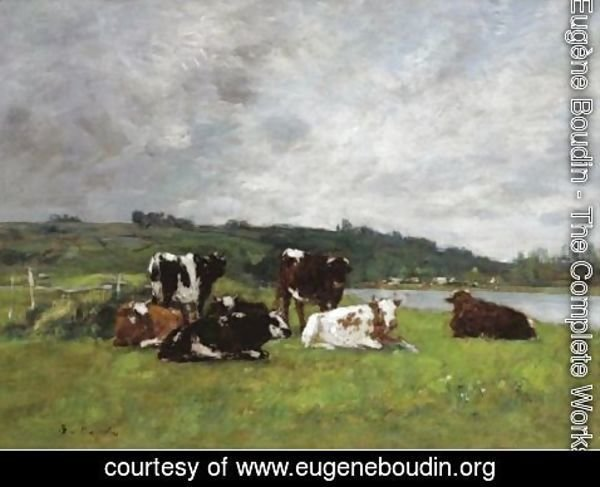 Eugène Boudin - Vaches Au Paturage 4