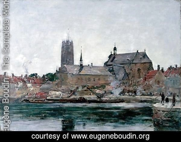 Eugène Boudin - A View of Dunkirk