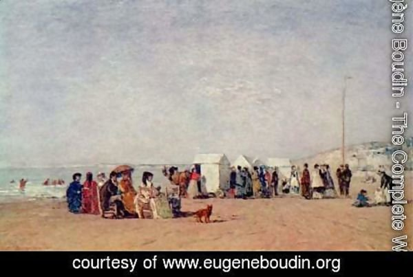 Eugène Boudin - Beach at Trouville 4