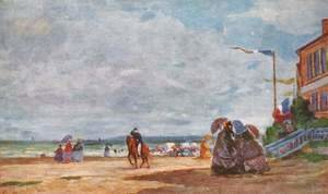 Eugène Boudin - Beach at Trouville 5