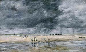 Eugène Boudin - Figures on the Beach