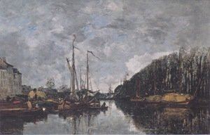 Eugène Boudin - Channel at Allee Verte in Brussels