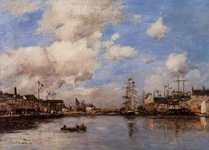 Eugène Boudin - Entrance to the harbor