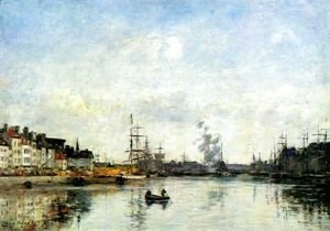 Eugène Boudin - Entrance to the harbor 2