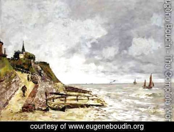 Eugène Boudin - The Seine at Caudebec-en-Caux 2