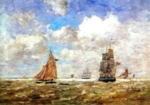 Eugène Boudin - High seas