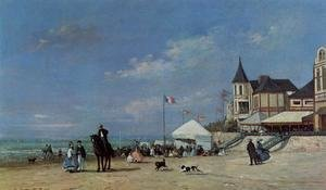 Eugène Boudin - The Beach at Trouville 4