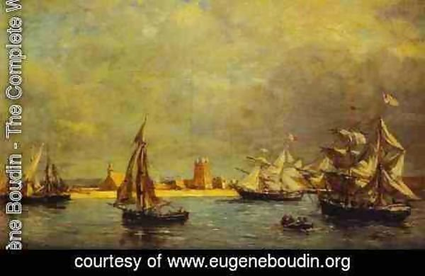 Eugène Boudin - The Port of Camaret