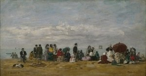 Eugène Boudin - The Beach at Trouville 5