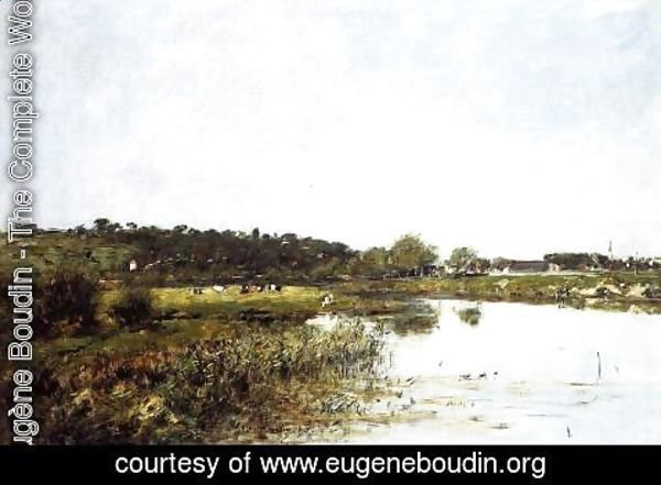 Eugène Boudin - On The Banks of the Touques