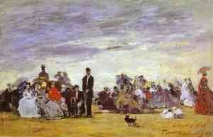 Eugène Boudin - Beach at Trouville 6